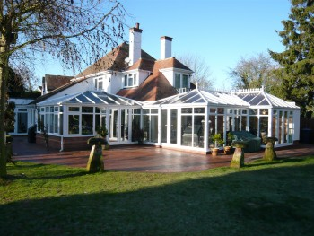 Large conservatory requiring planning permission