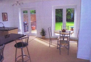 Open plan kitchen diner extension