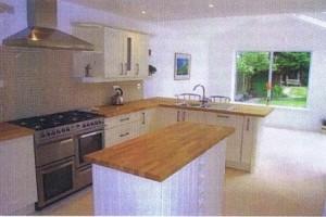 Kitchen extension creating large kitchen diner