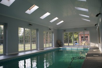 Example of single storey extension for a swimming pool