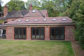 Example of single storey extension for games rom and garaging