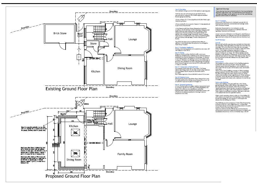 Single Storey Extension Building Regulations Specification Pdf
